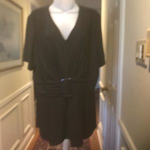 Julian Taylor - Lady black dress top, Size 18W